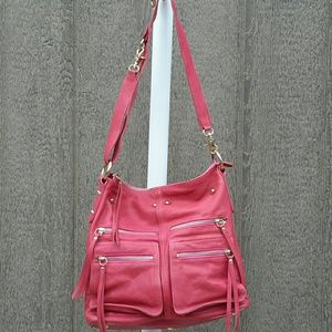 Sorial Zippered Pocket Bag in Coral